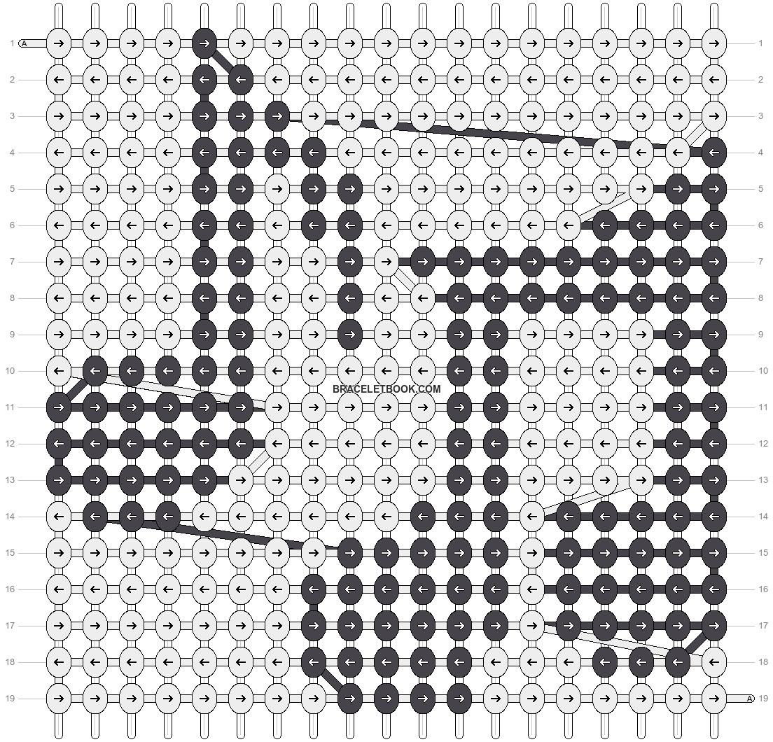 Alpha pattern #2208 pattern