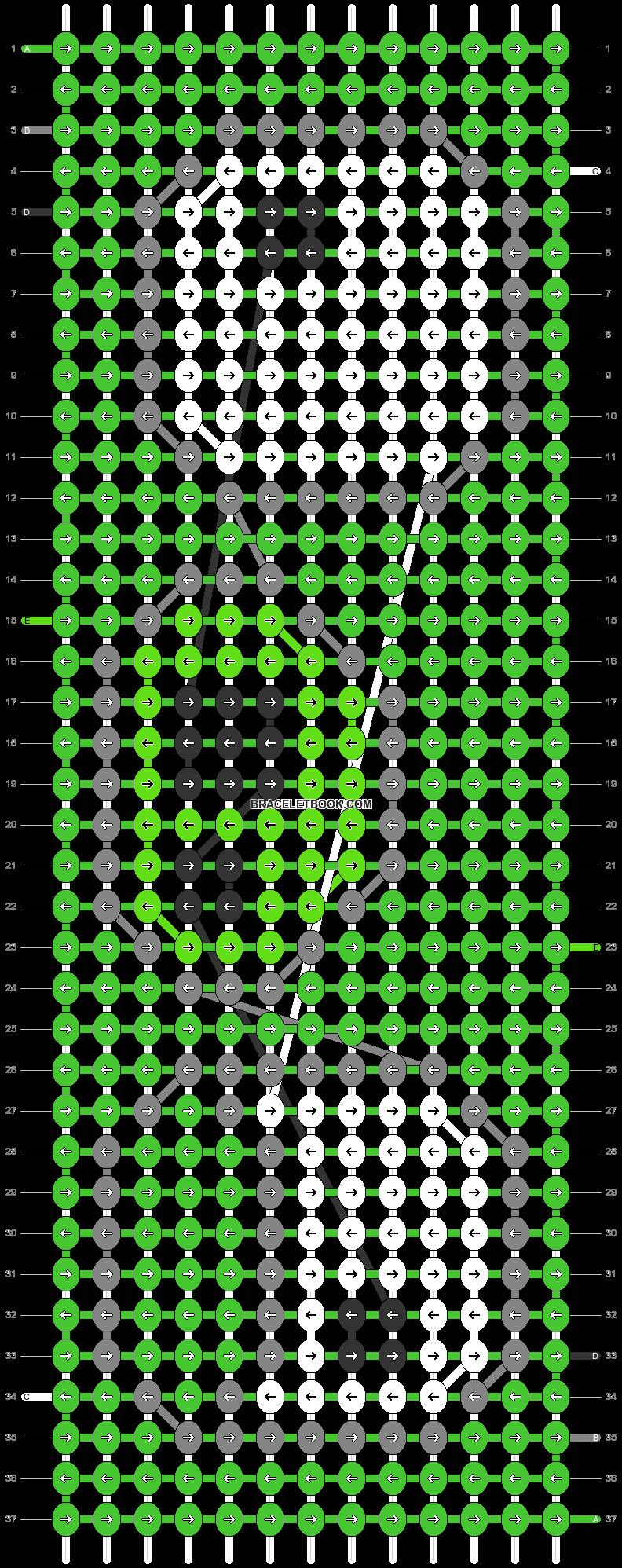 Alpha pattern #2234 pattern