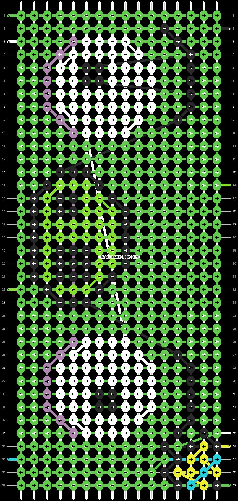 Alpha pattern #2241 pattern