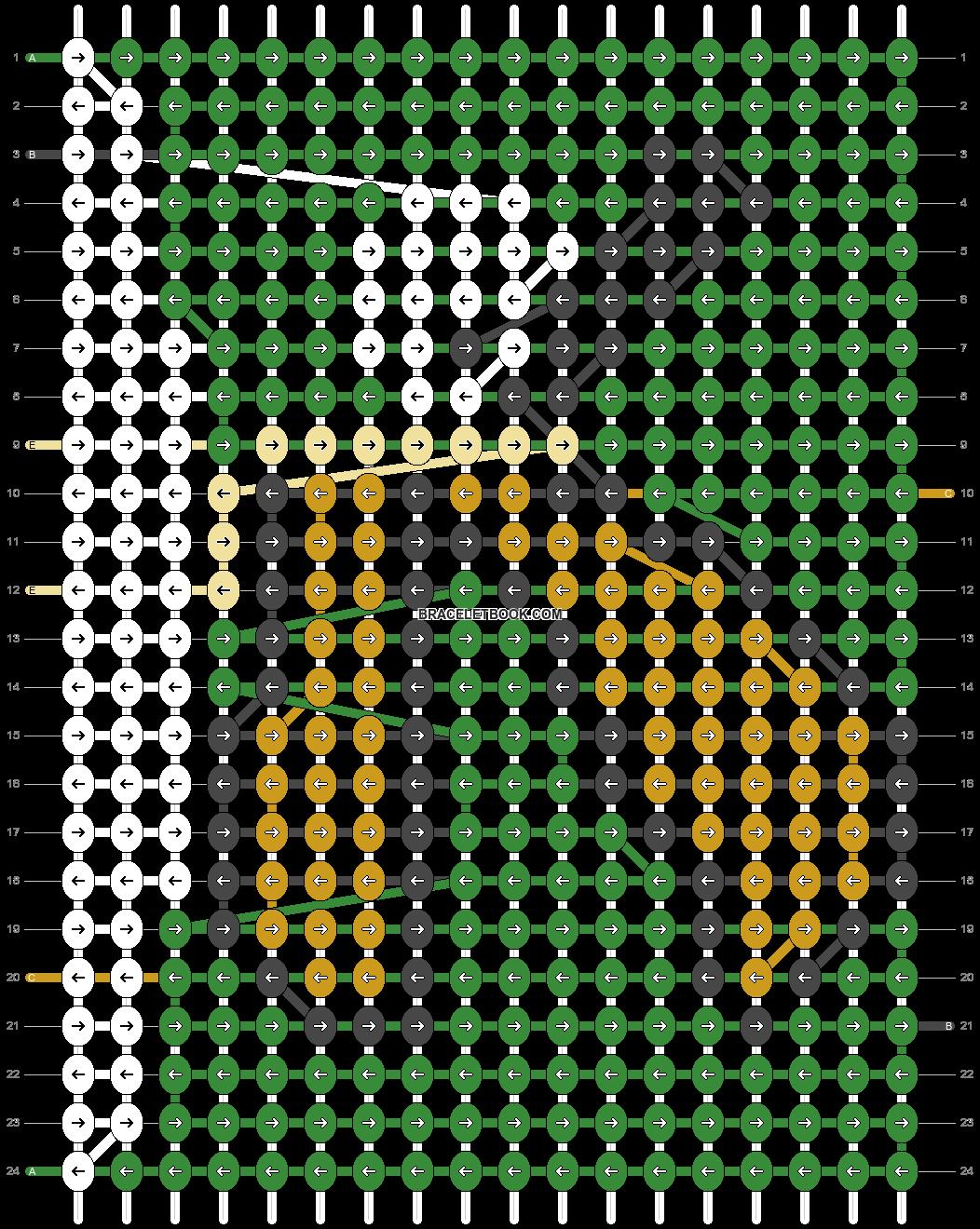 Alpha pattern #2243 pattern