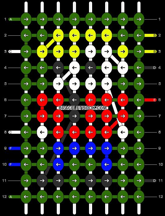Alpha pattern #2258 pattern
