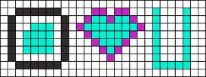 Alpha Friendship Bracelet Pattern #2436