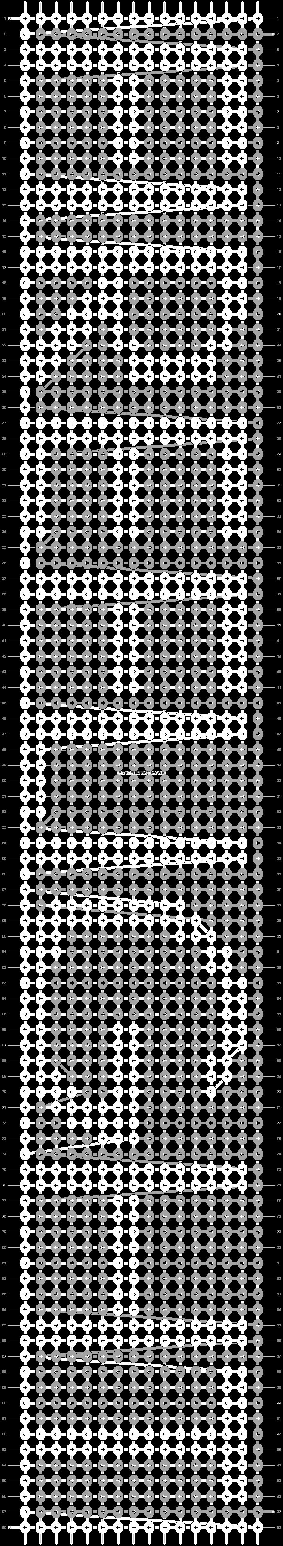 Alpha pattern #2530 pattern