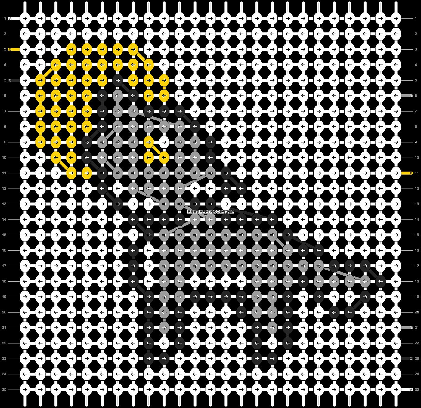 Alpha pattern #2609 pattern