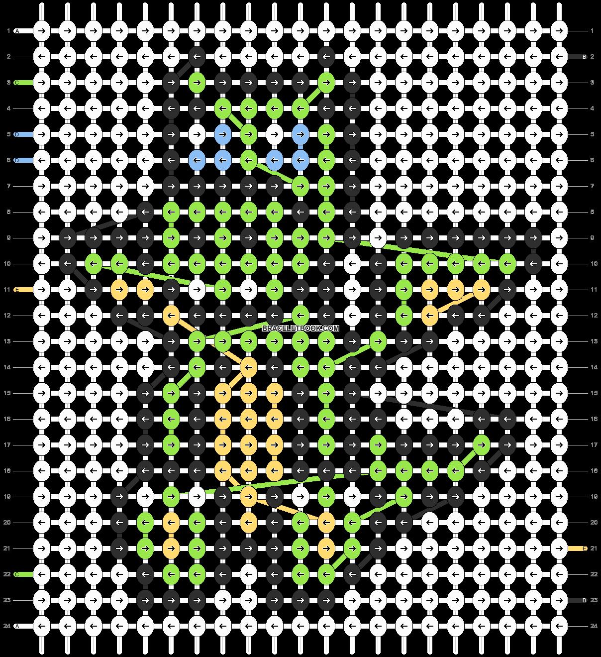 Alpha pattern #2613 pattern