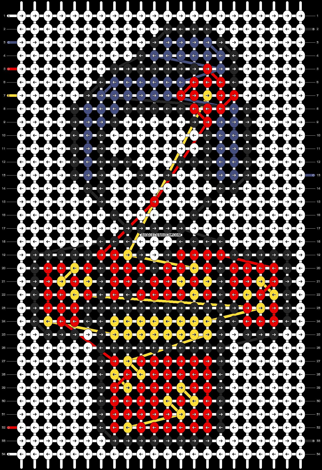 Alpha pattern #2614 pattern