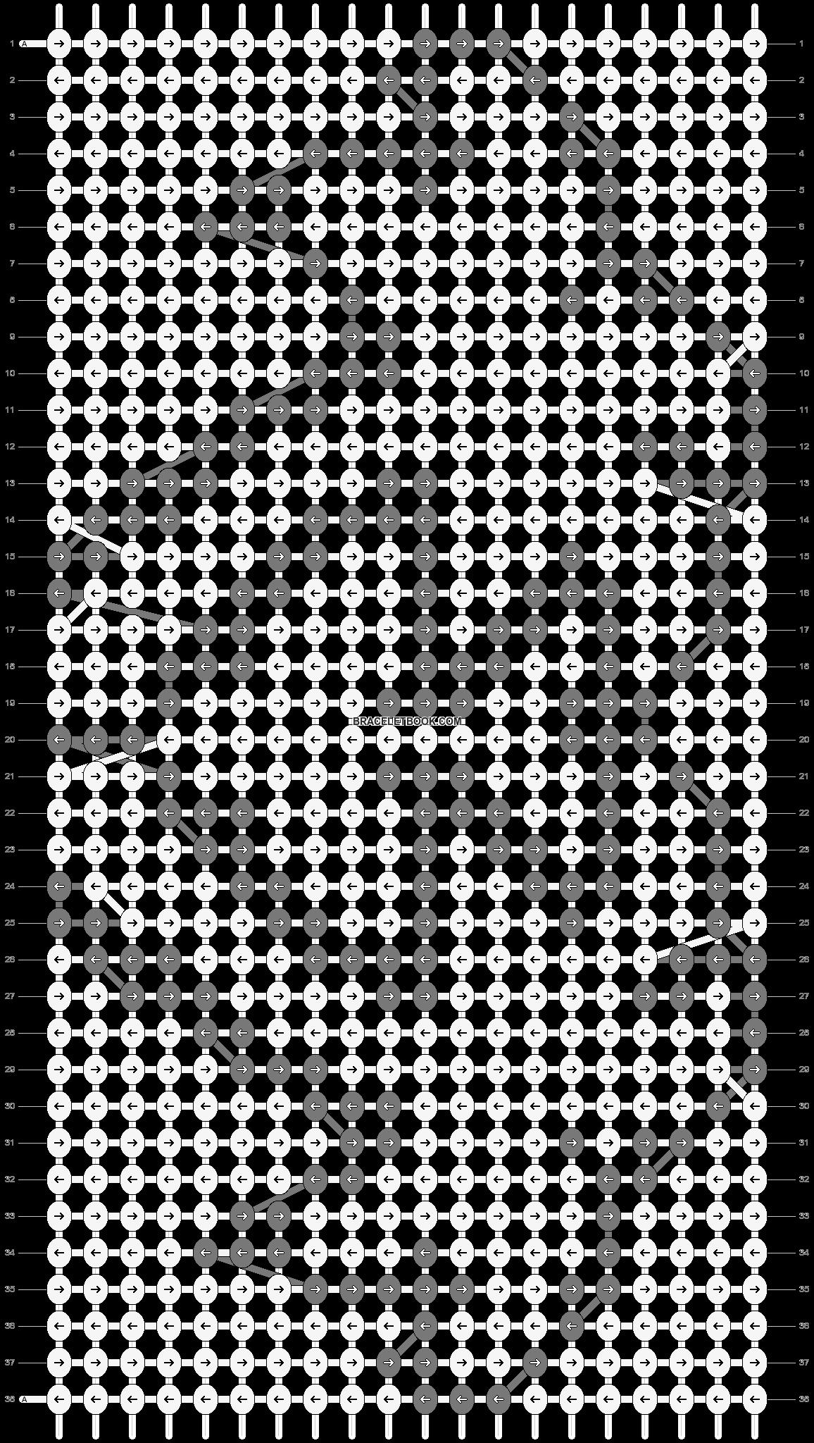 Alpha pattern #2640 pattern