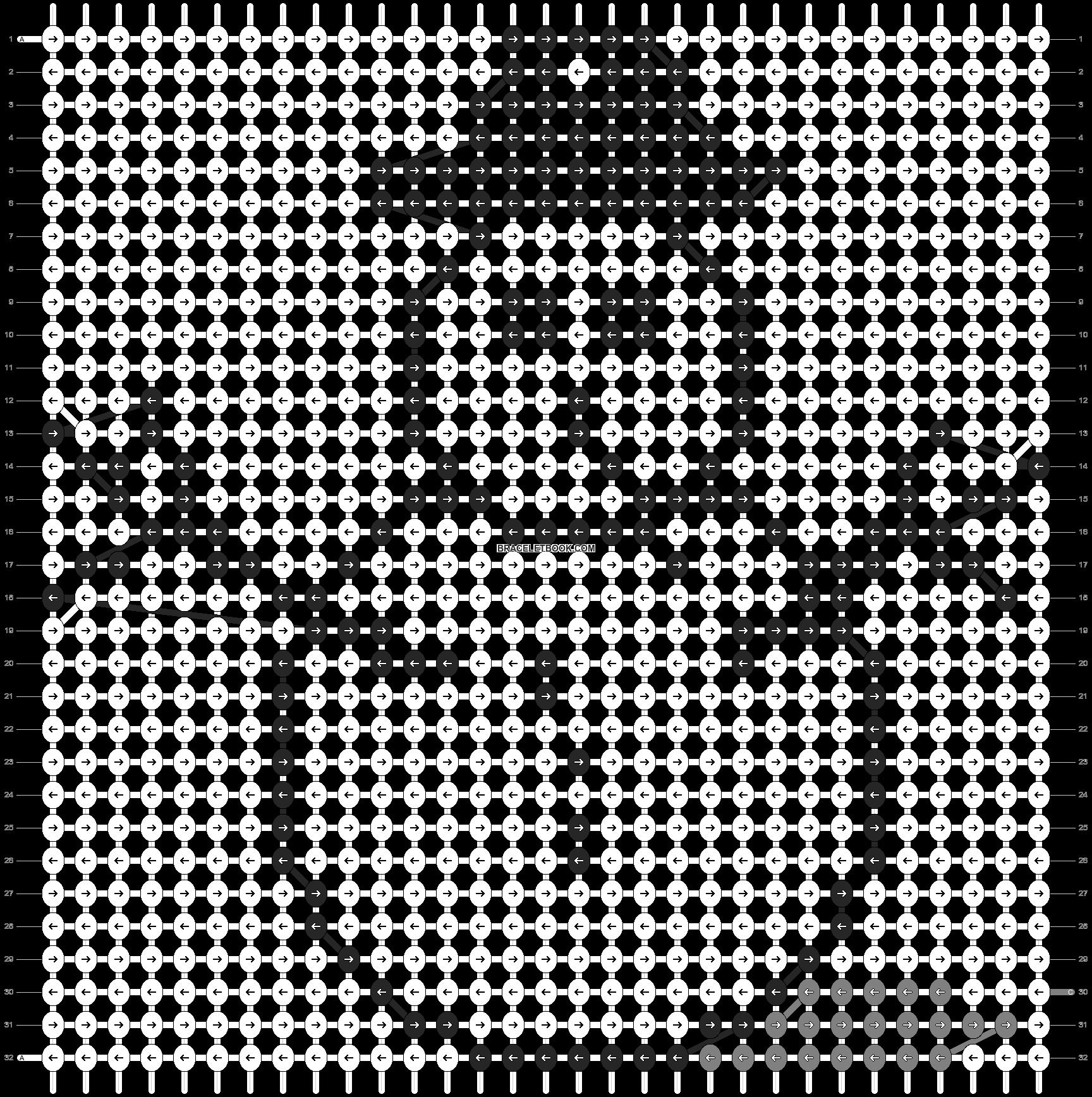 Alpha pattern #2667 pattern