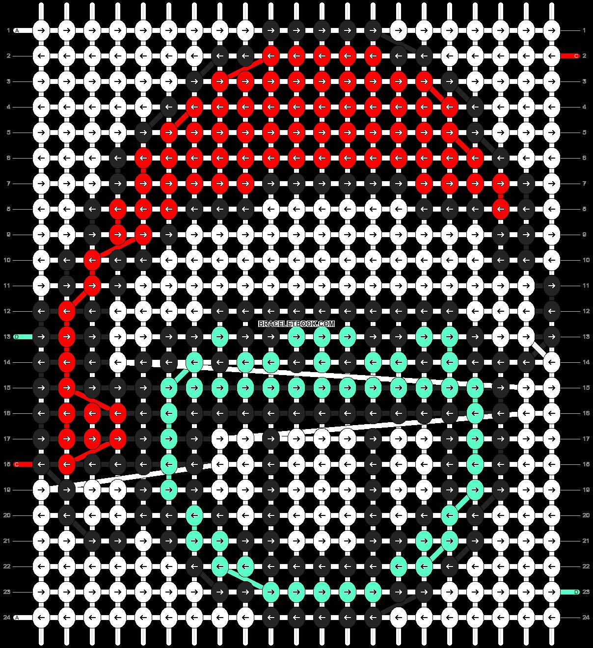 Alpha pattern #2668 pattern