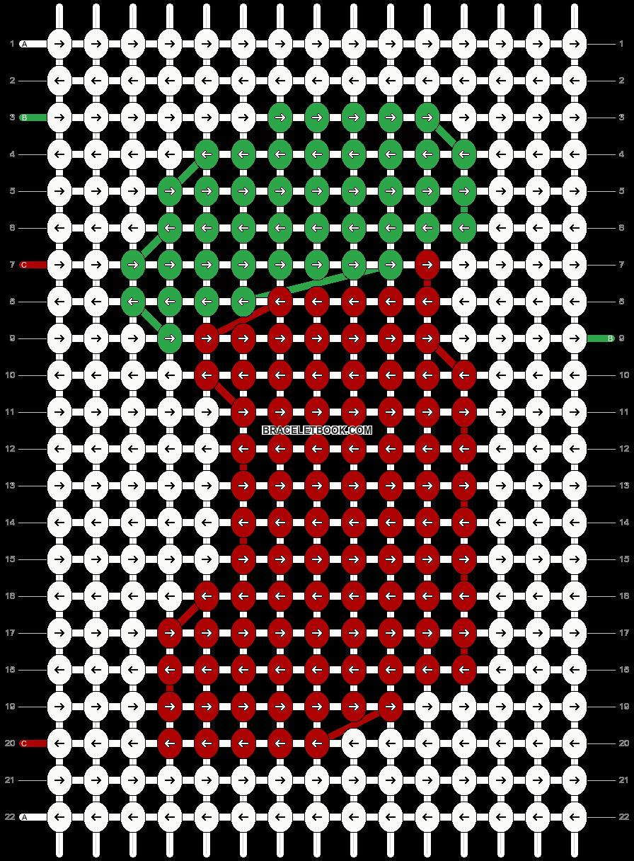 Alpha pattern #2691 pattern