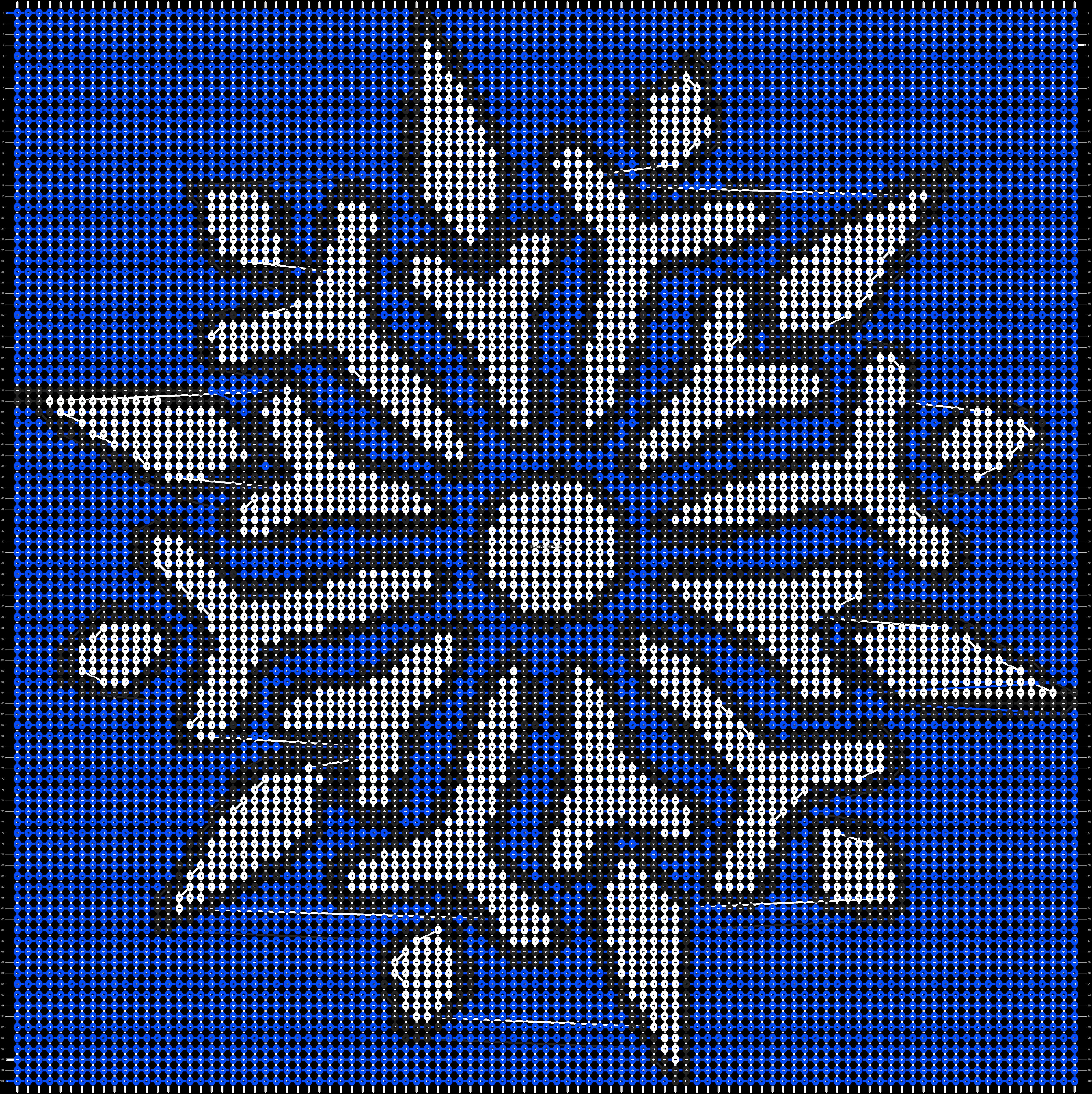 Alpha pattern #2729 pattern