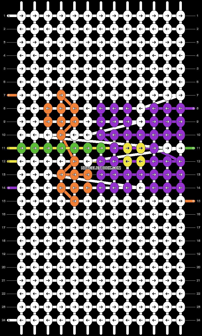 Alpha pattern #2800 pattern