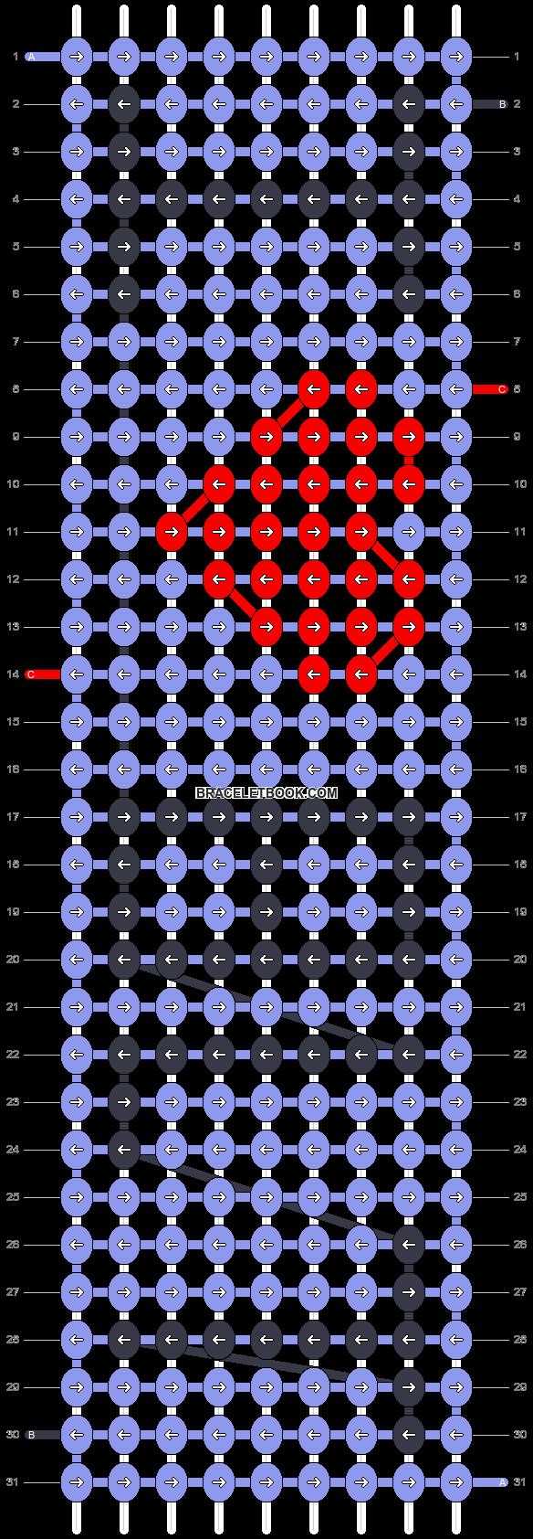 Alpha pattern #2834 pattern