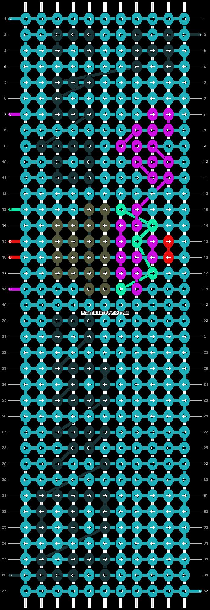 Alpha pattern #2835 pattern