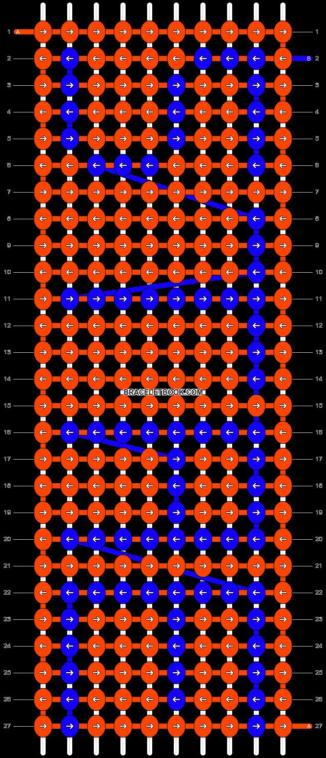 Alpha pattern #2860 pattern