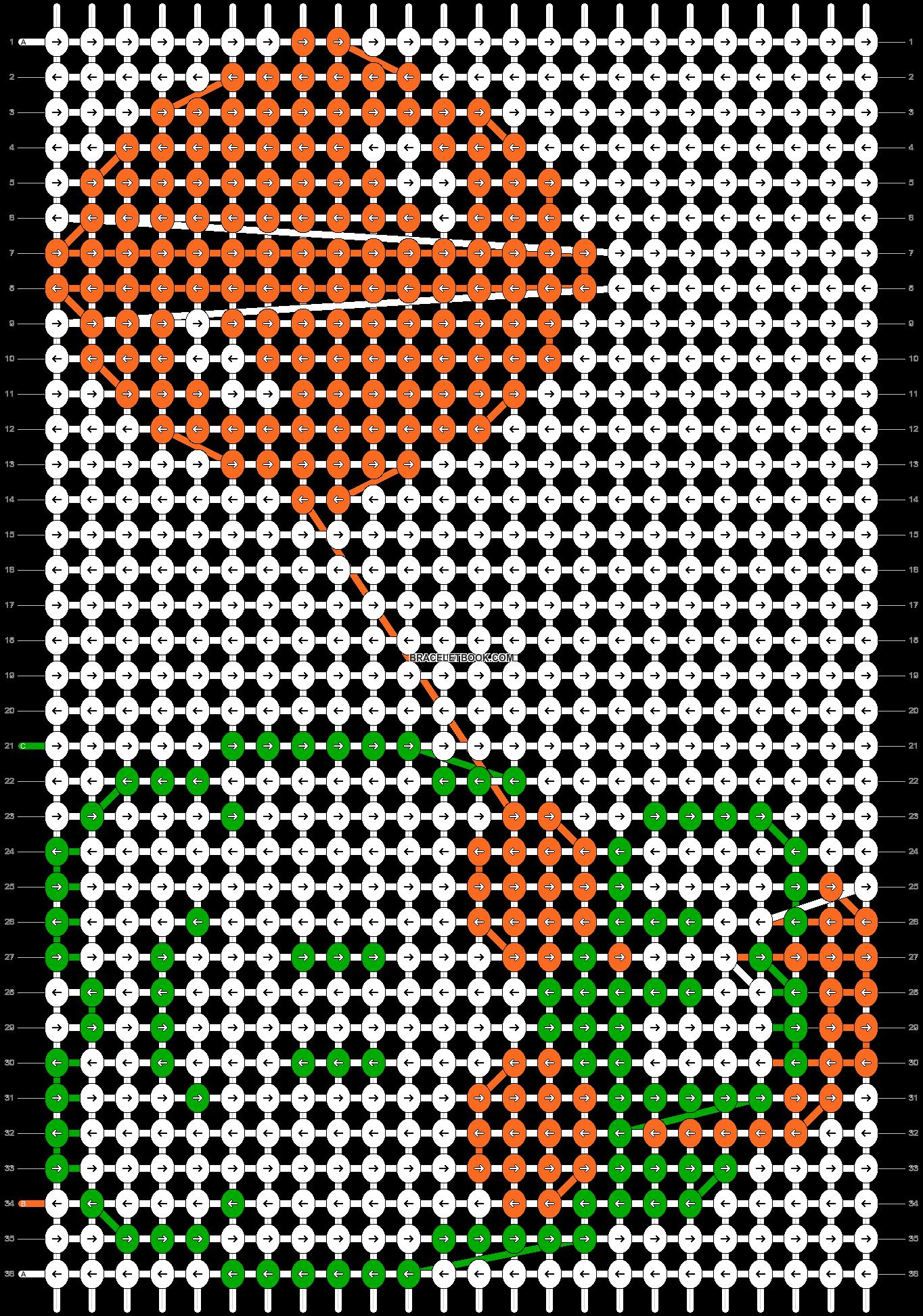 Alpha pattern #2986 pattern