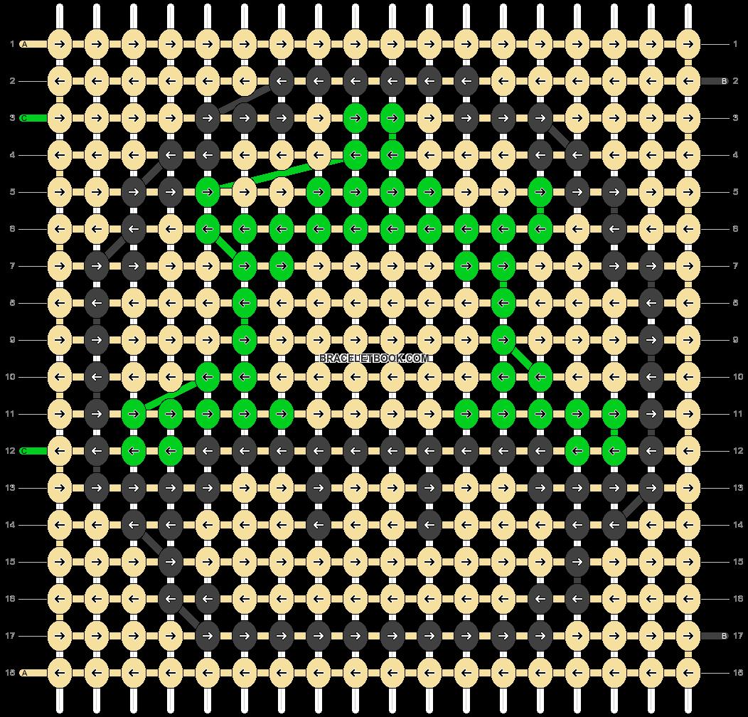 Alpha pattern #2993 pattern
