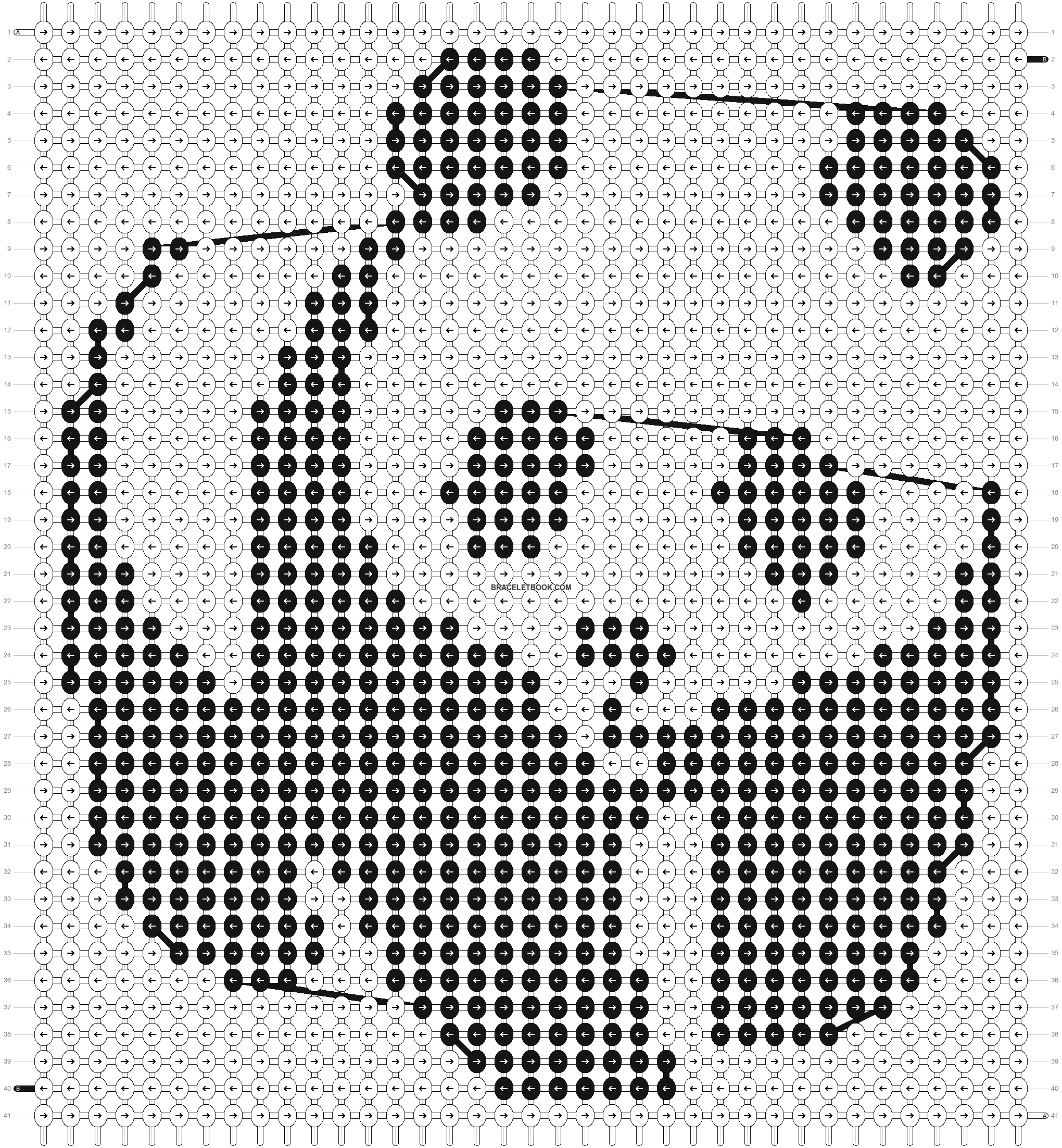 Alpha pattern #2997 pattern