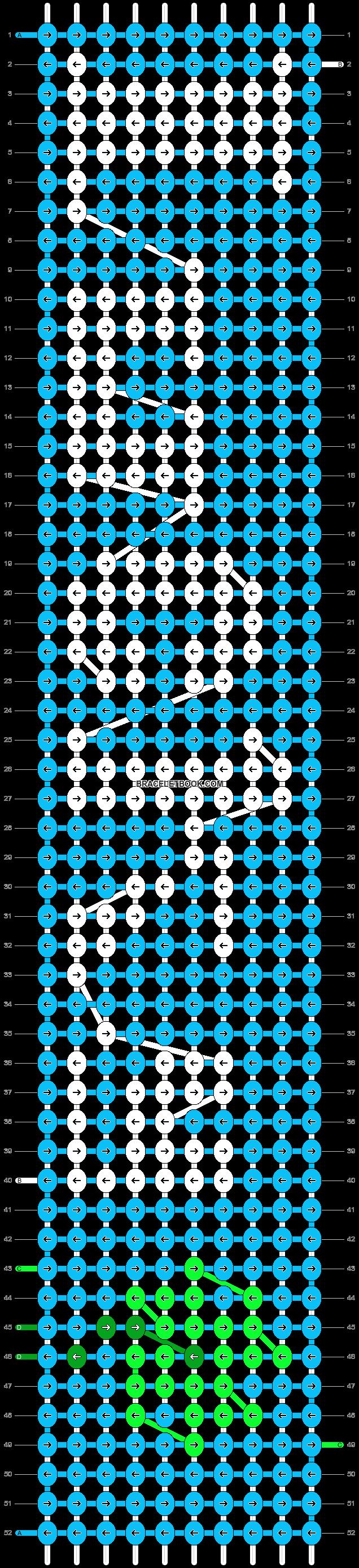 Alpha pattern #3024 pattern