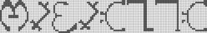 Alpha Friendship Bracelet Pattern #3028