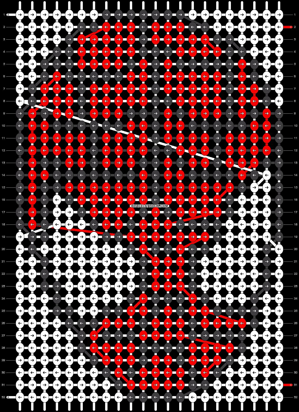 Alpha pattern #3036 pattern