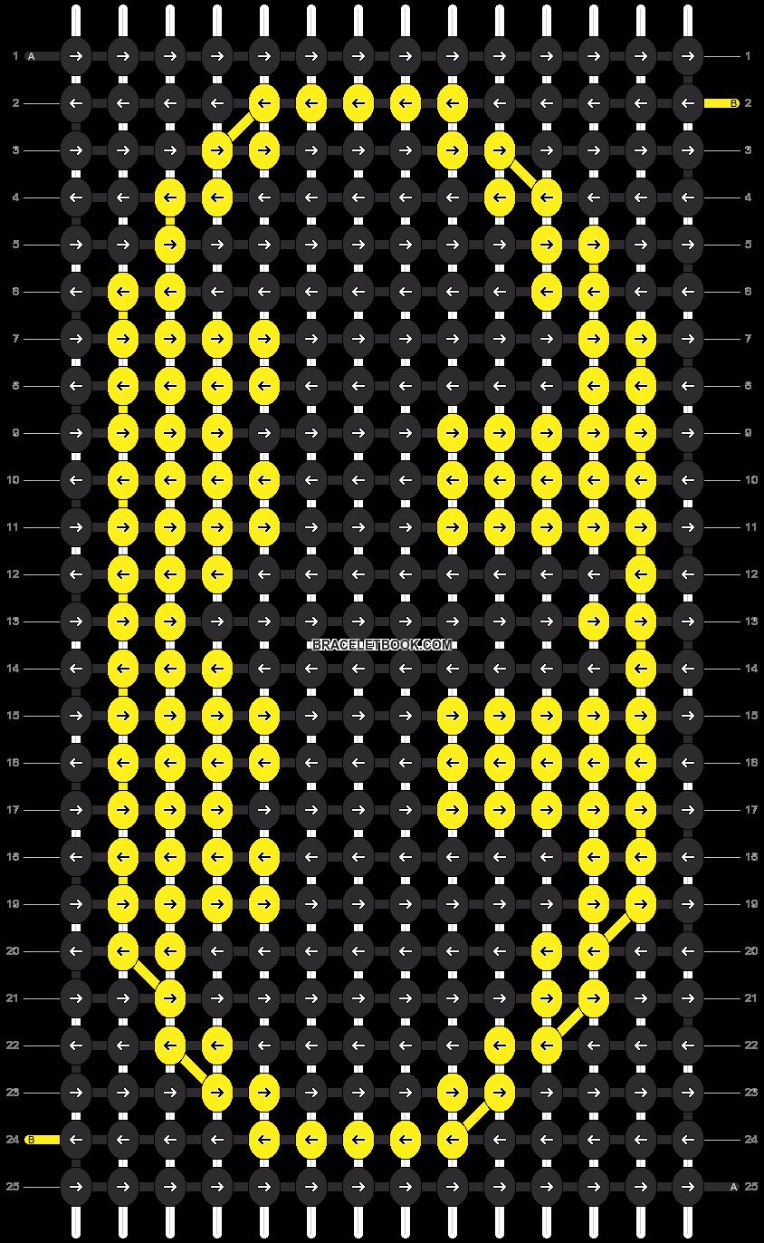 Alpha pattern #3084 pattern
