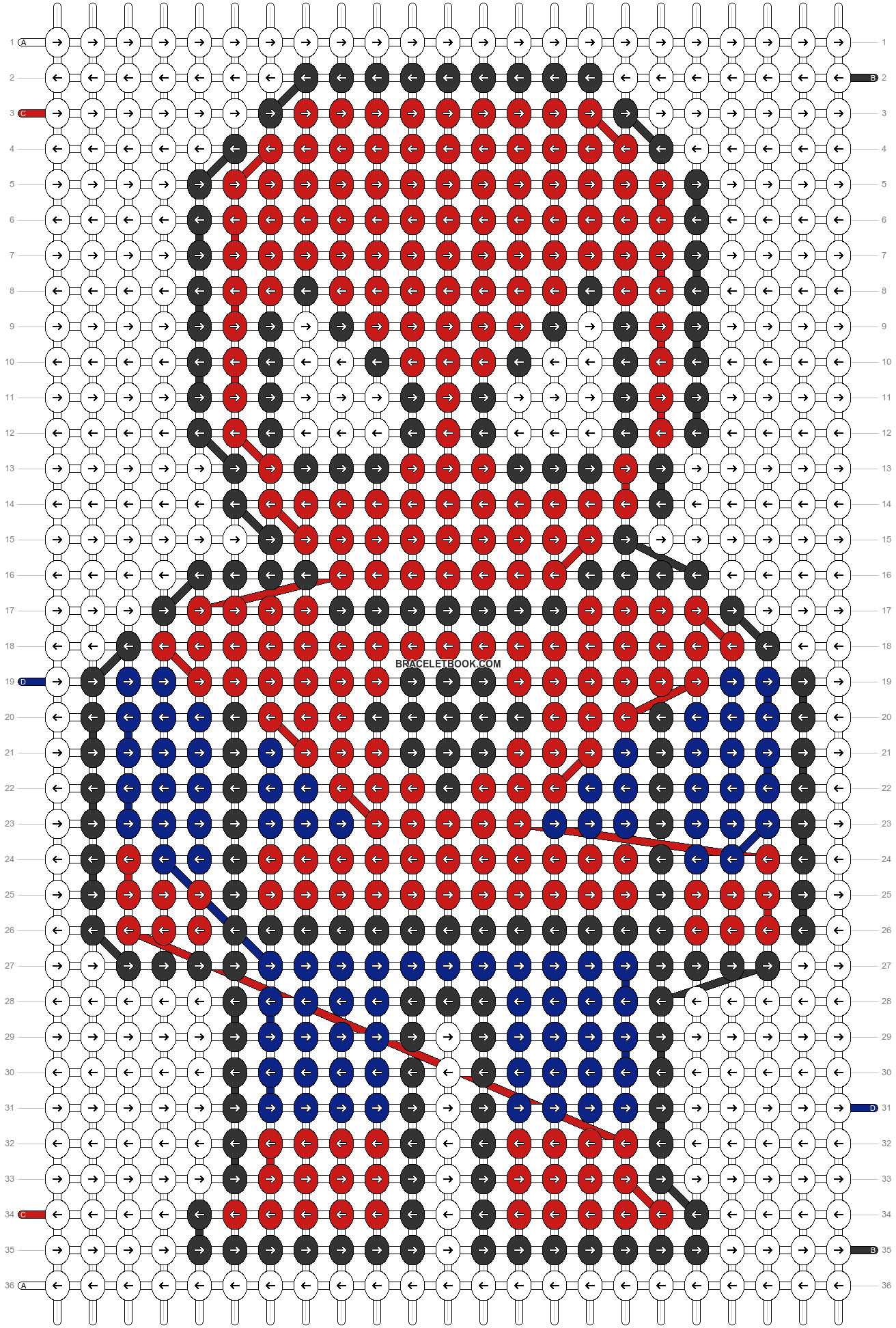 Alpha pattern #3085 pattern