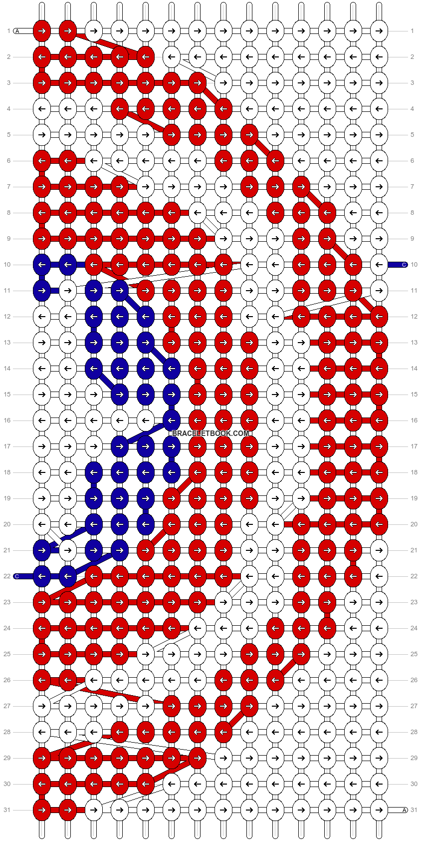 Alpha pattern #3110 pattern