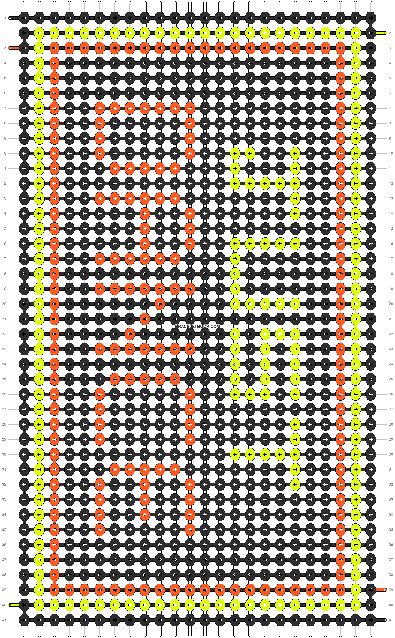 Alpha pattern #3426 pattern
