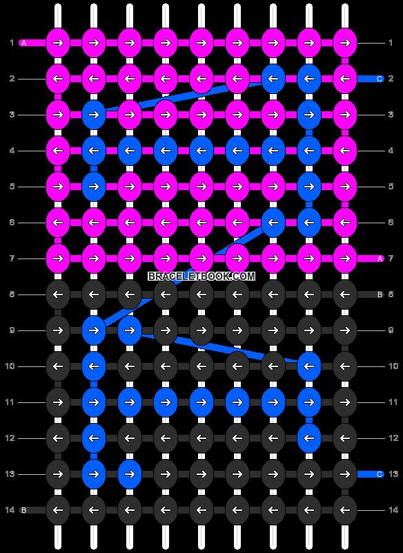 Alpha pattern #3446 pattern