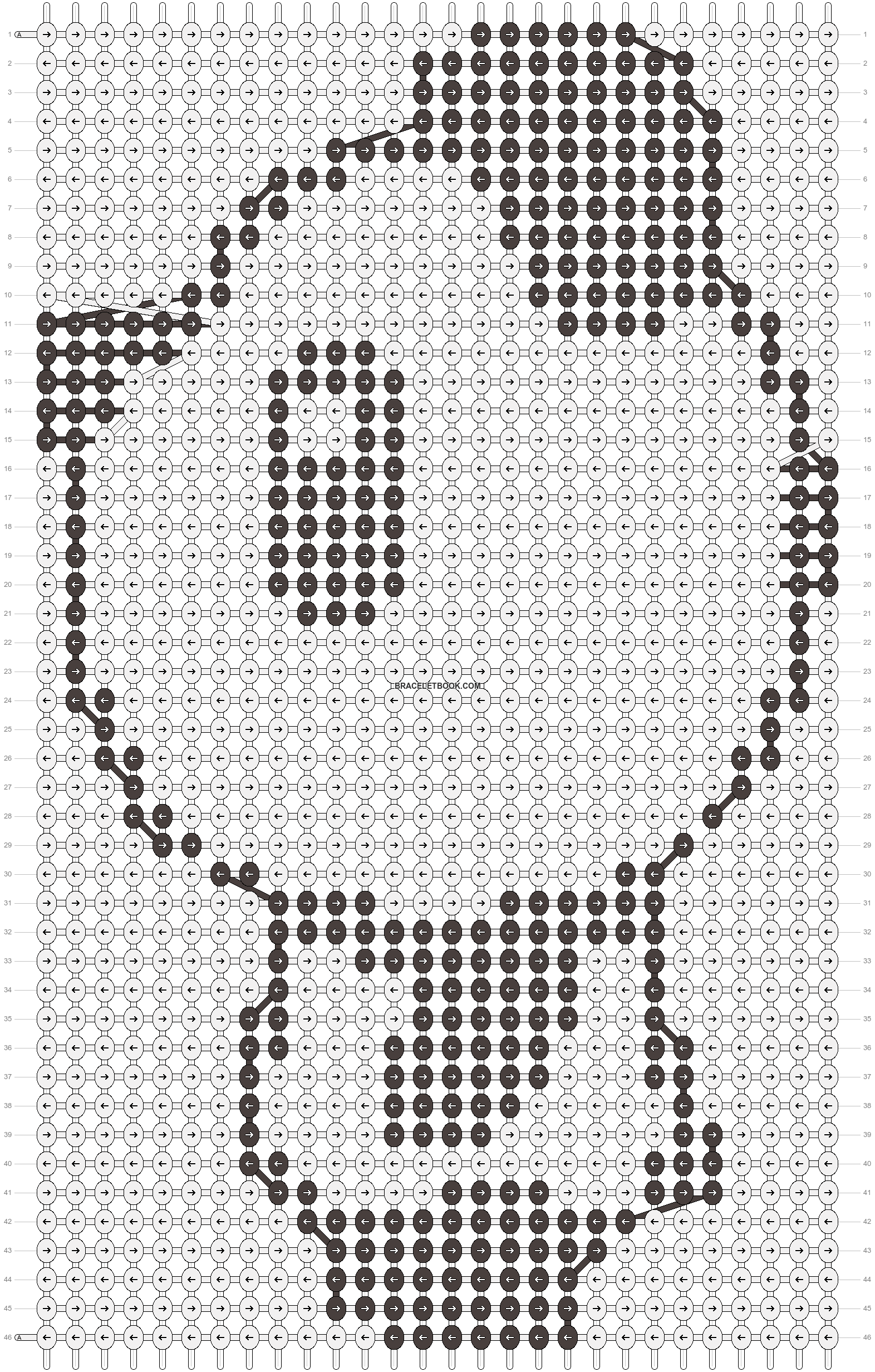 Alpha pattern #3508 pattern