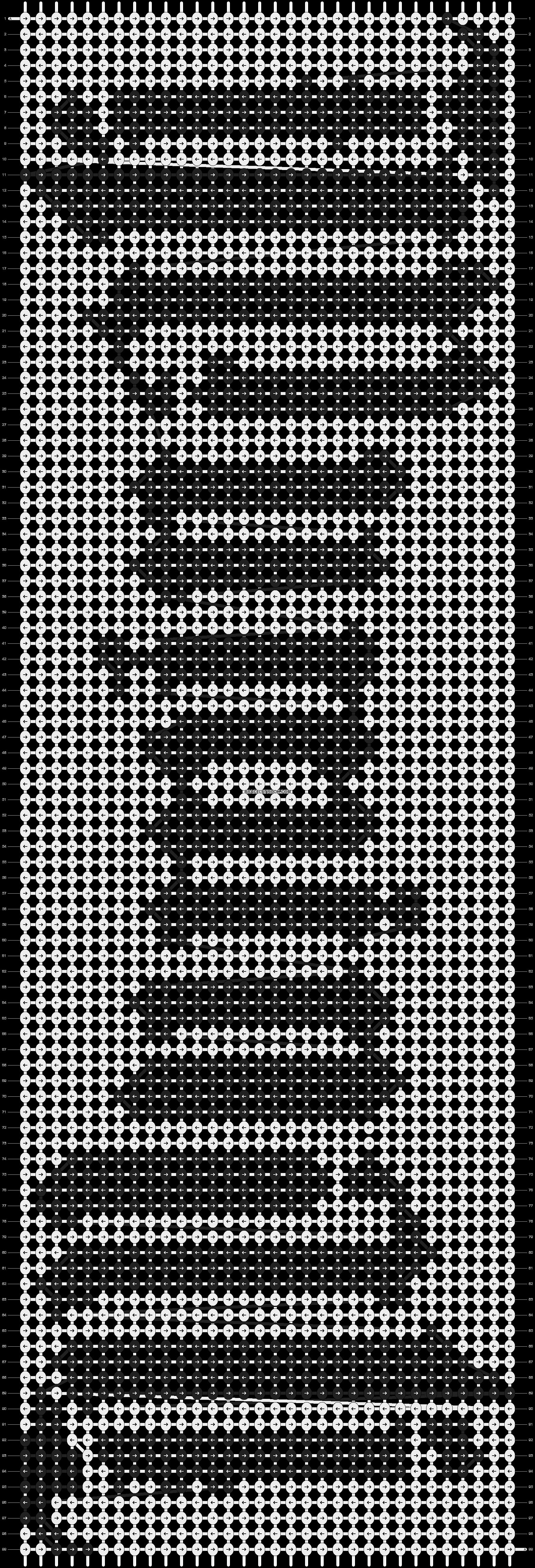Alpha pattern #3599 pattern