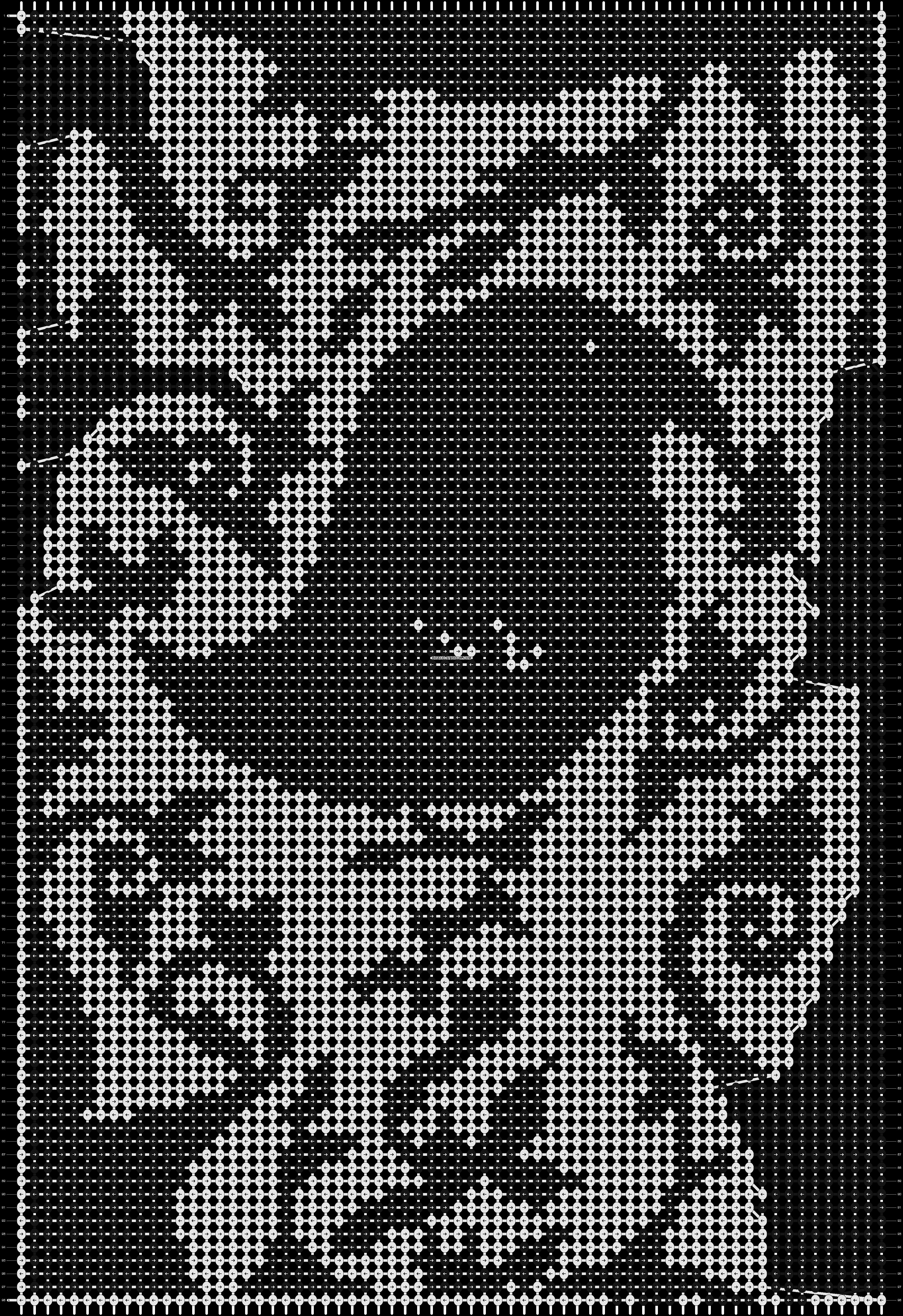 Alpha pattern #3623 pattern