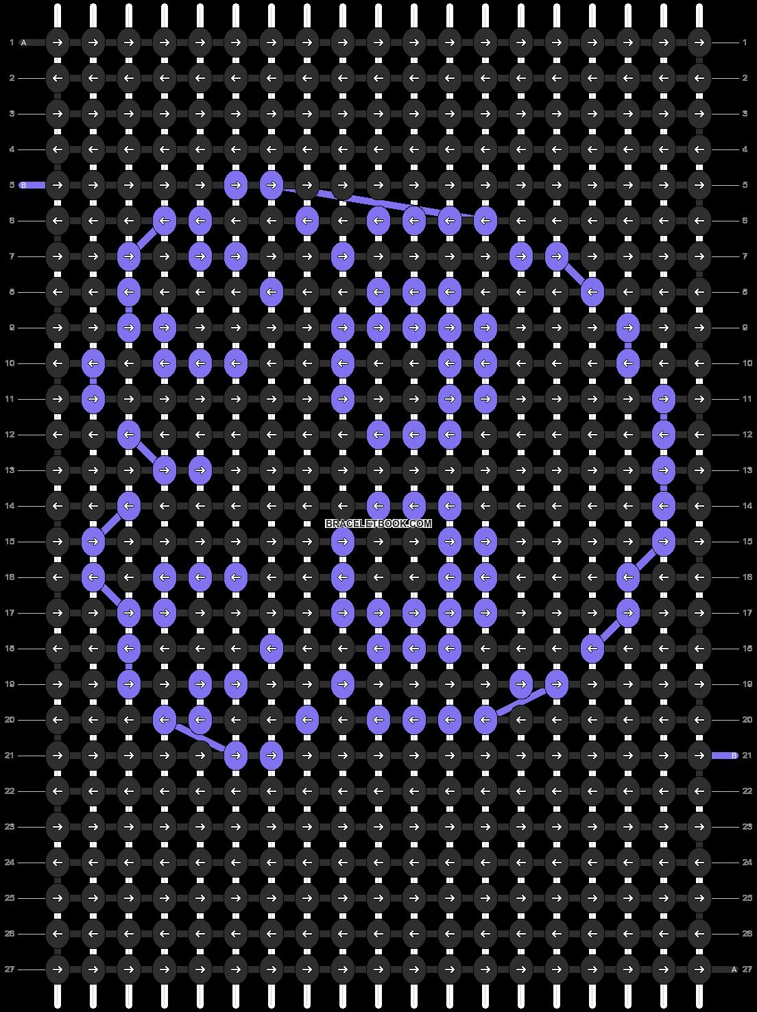 Alpha pattern #3624 pattern