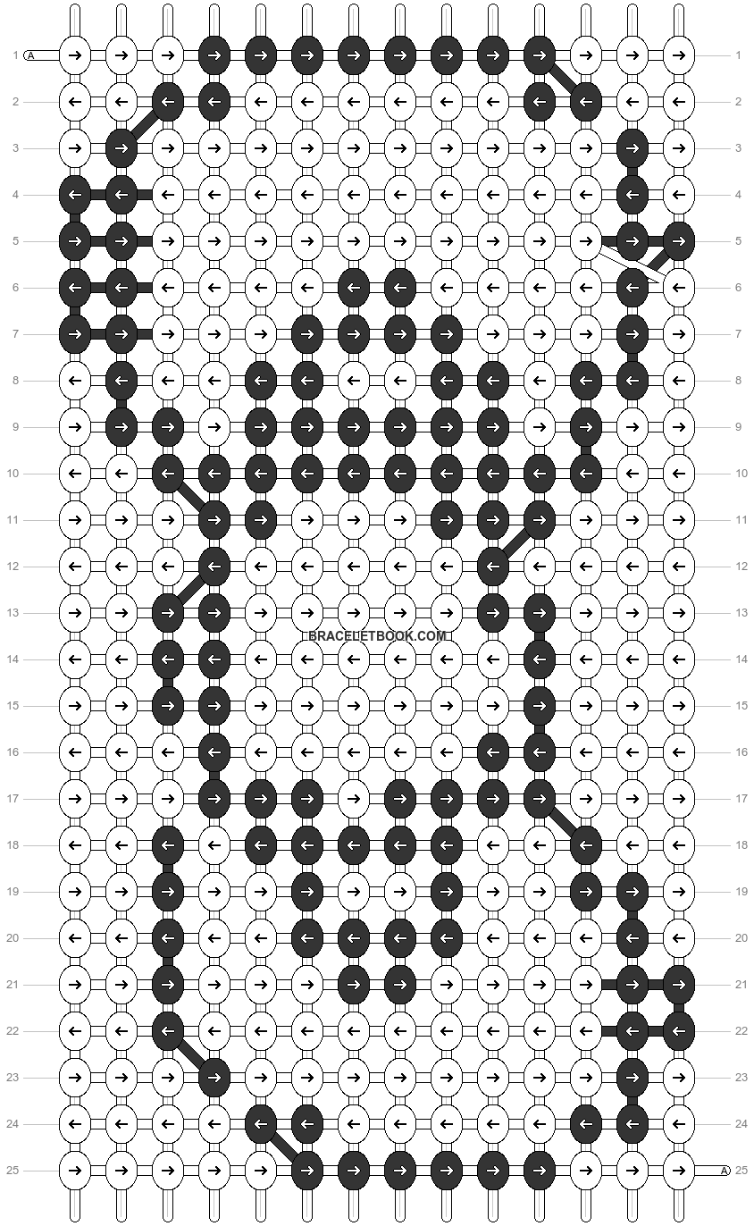 Alpha pattern #3625 pattern