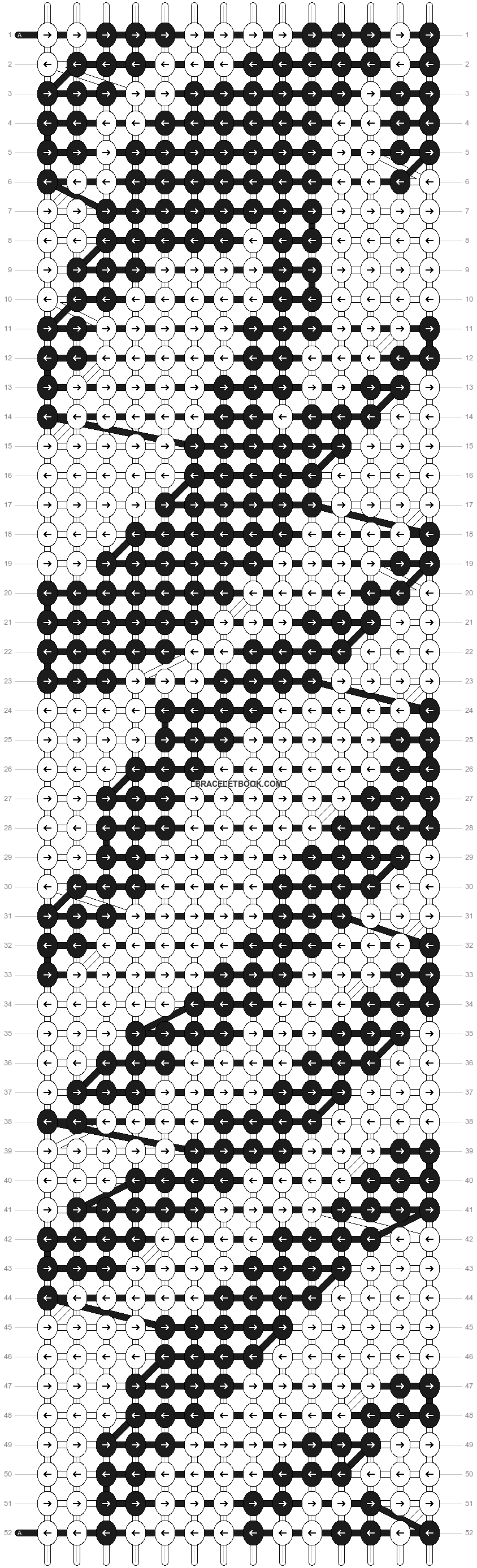 Alpha pattern #3645 pattern