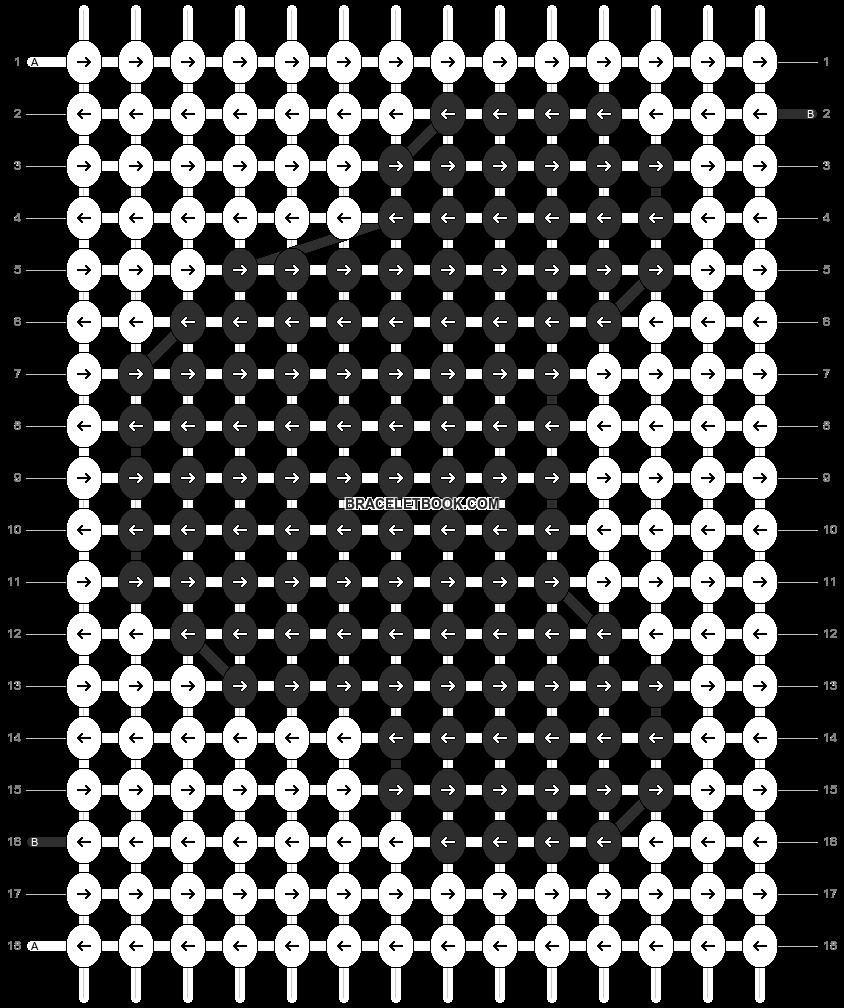 Alpha pattern #3656 pattern