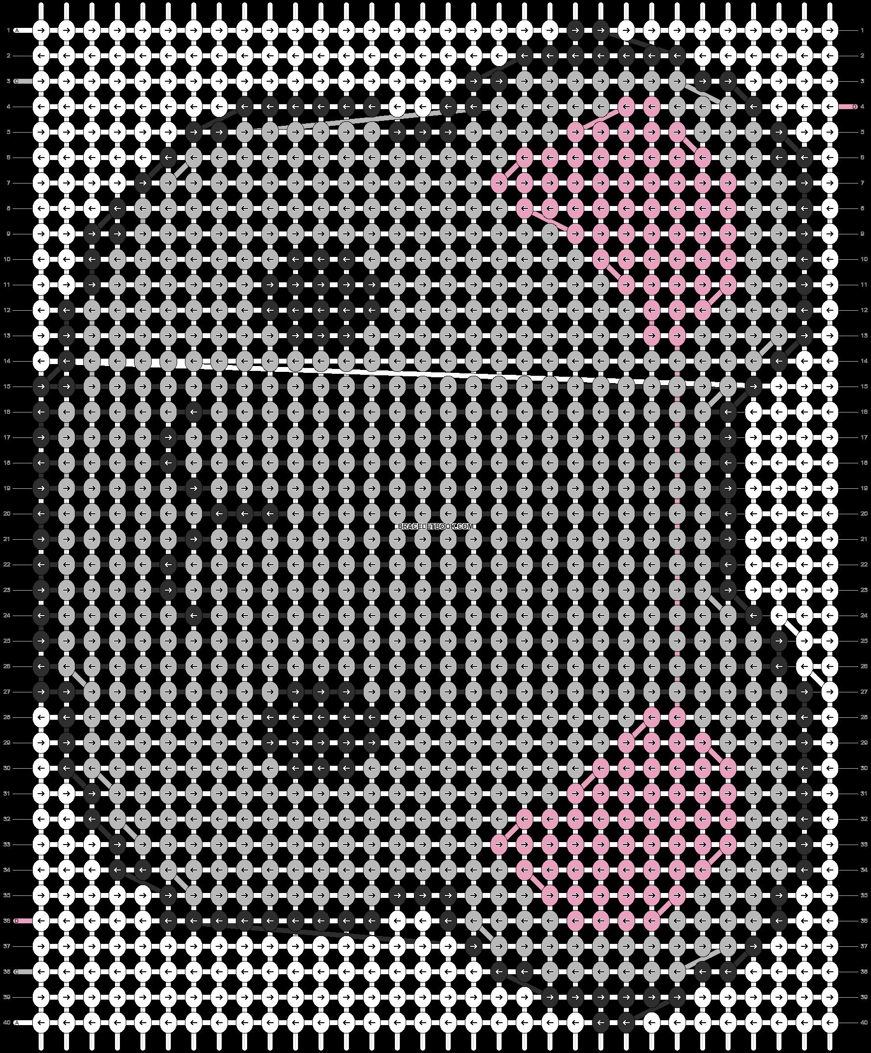 Alpha pattern #3662 pattern