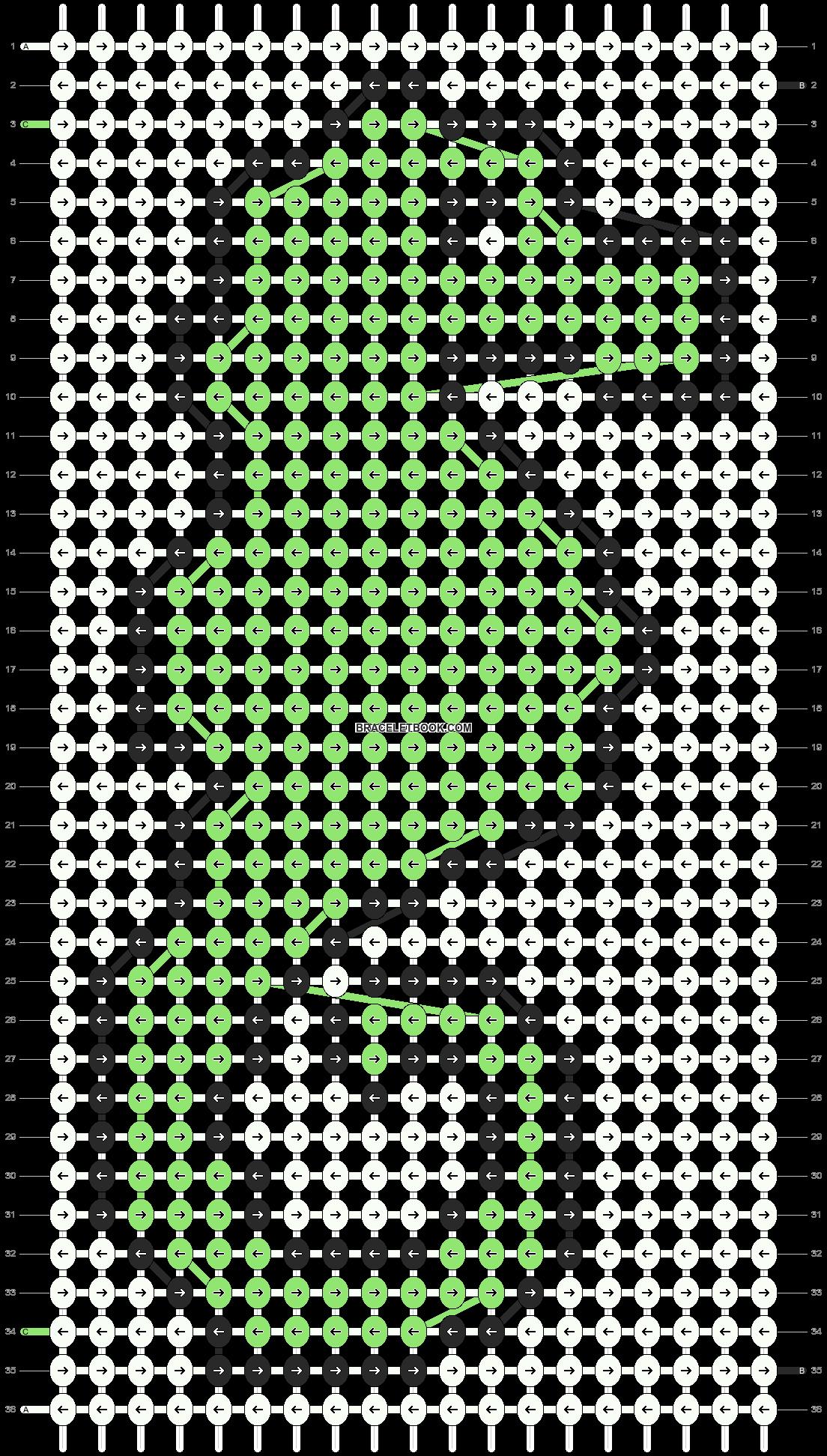 Alpha pattern #3666 pattern