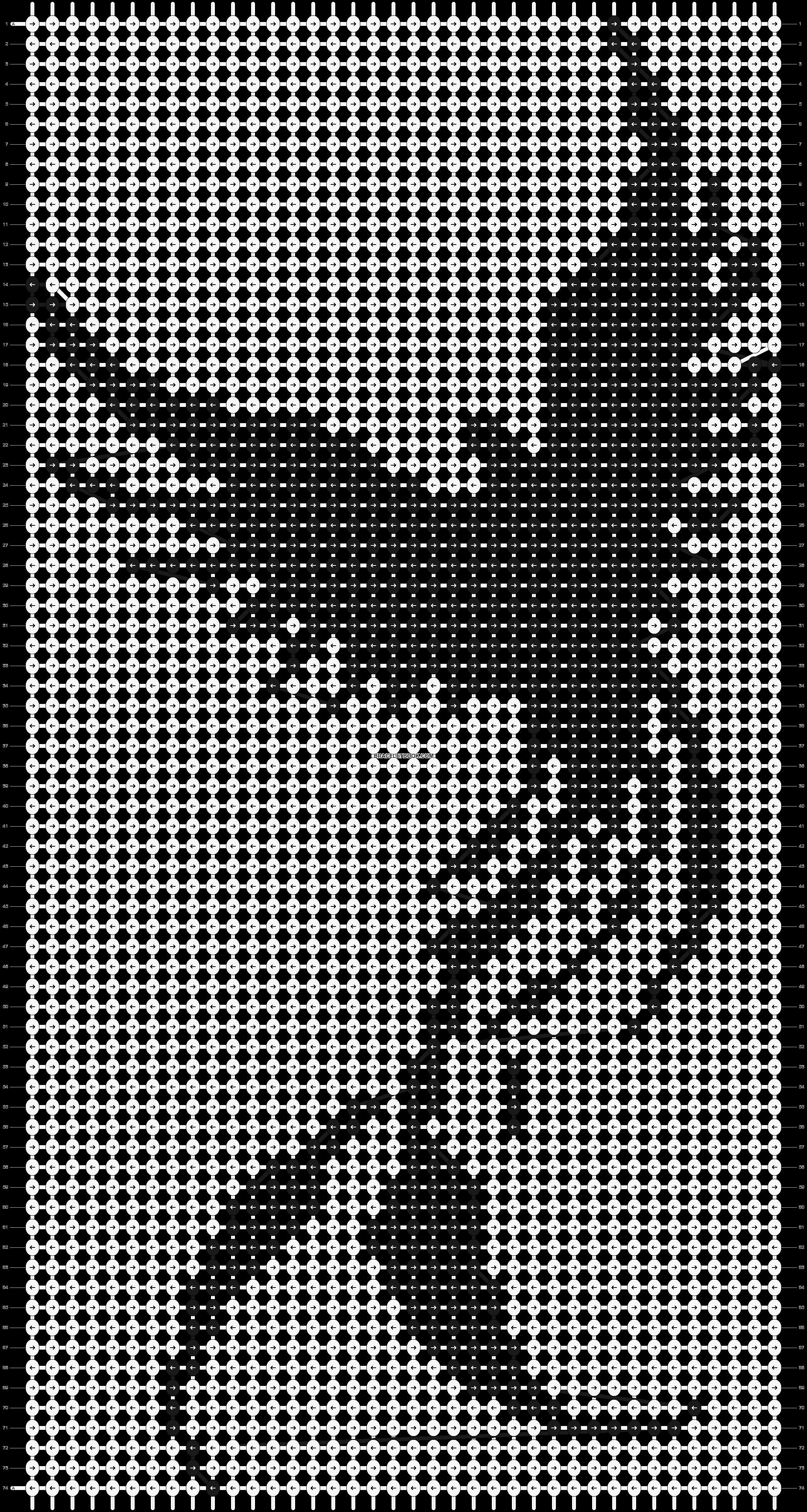 Alpha pattern #3682 pattern