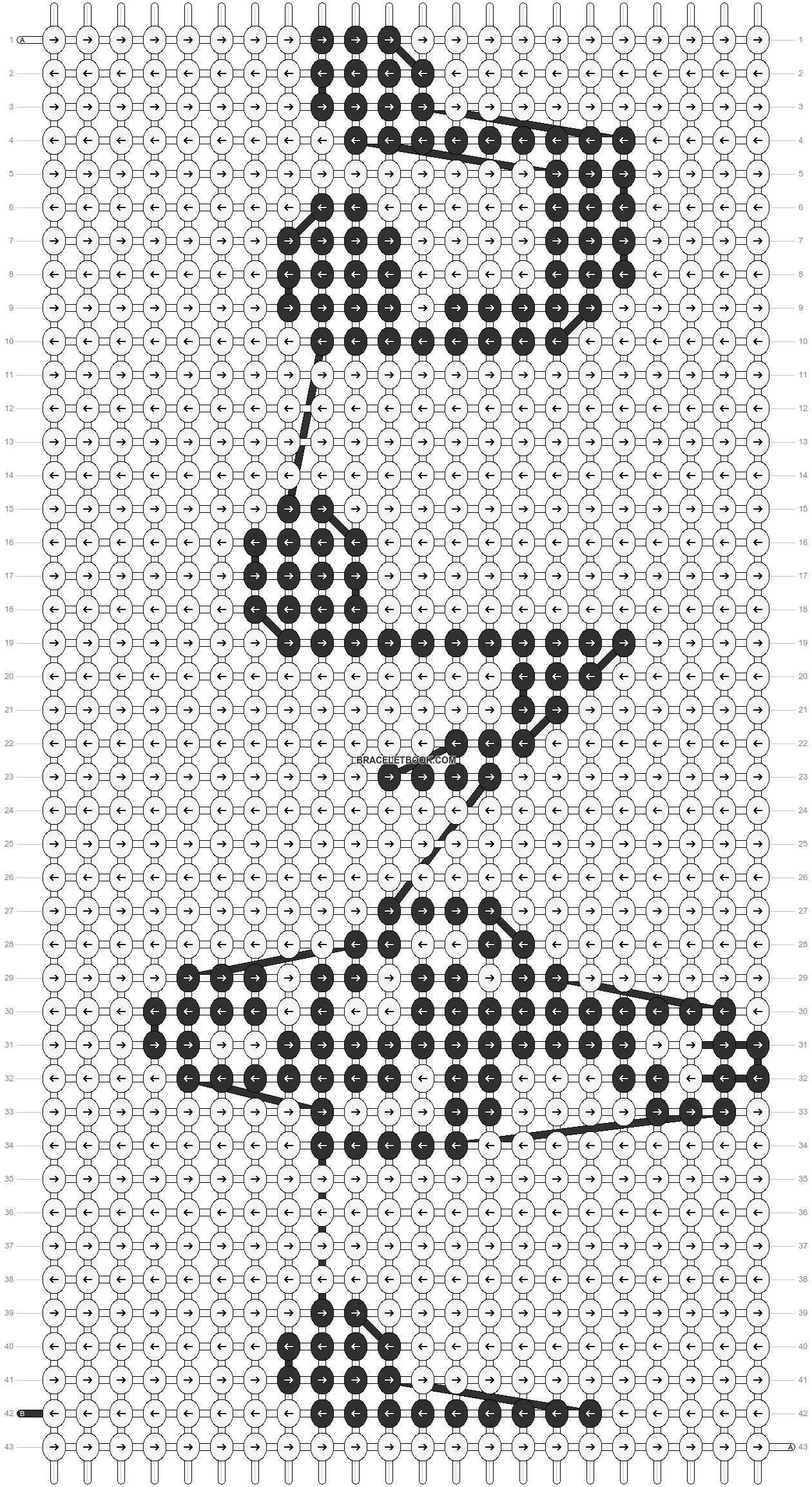 Alpha pattern #3714 pattern