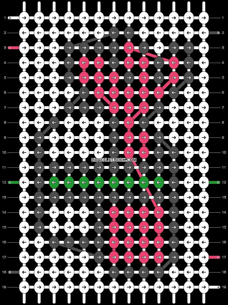 Alpha pattern #3742 pattern