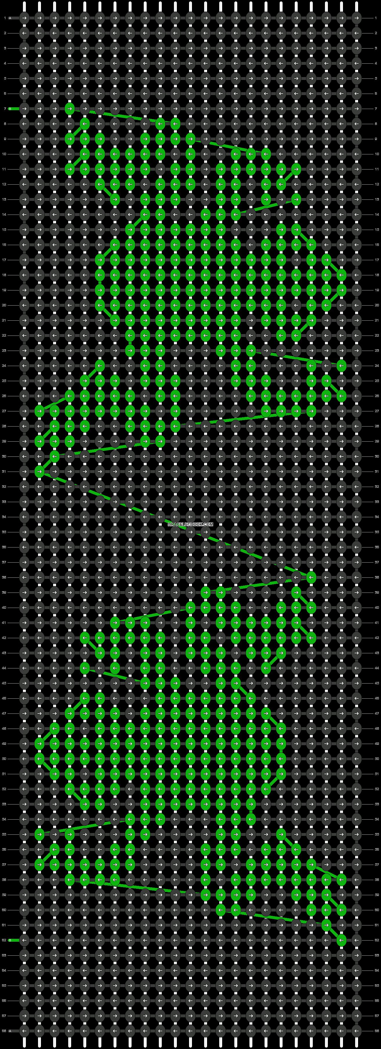 Alpha pattern #3790 pattern