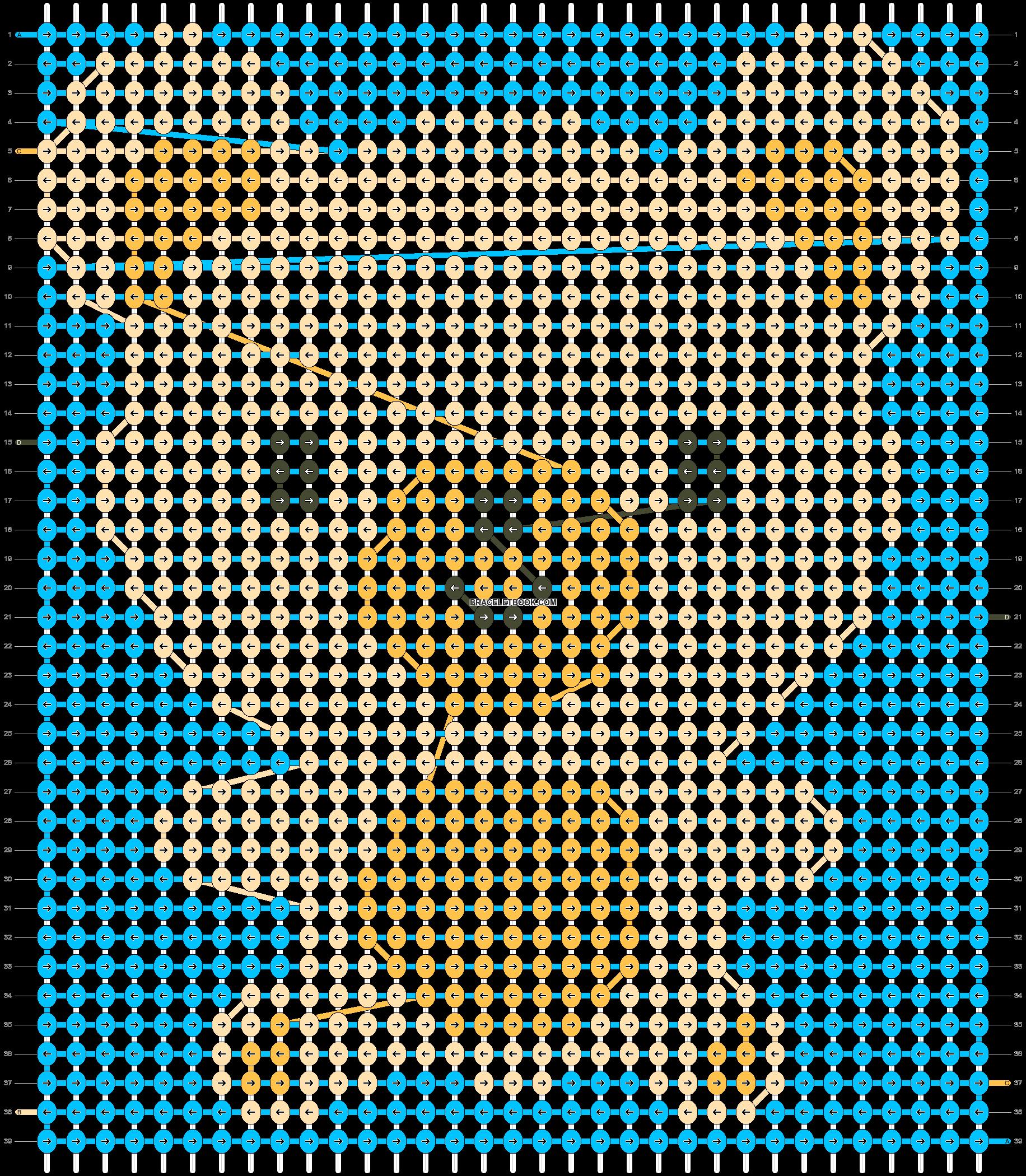 Alpha pattern #3829 pattern