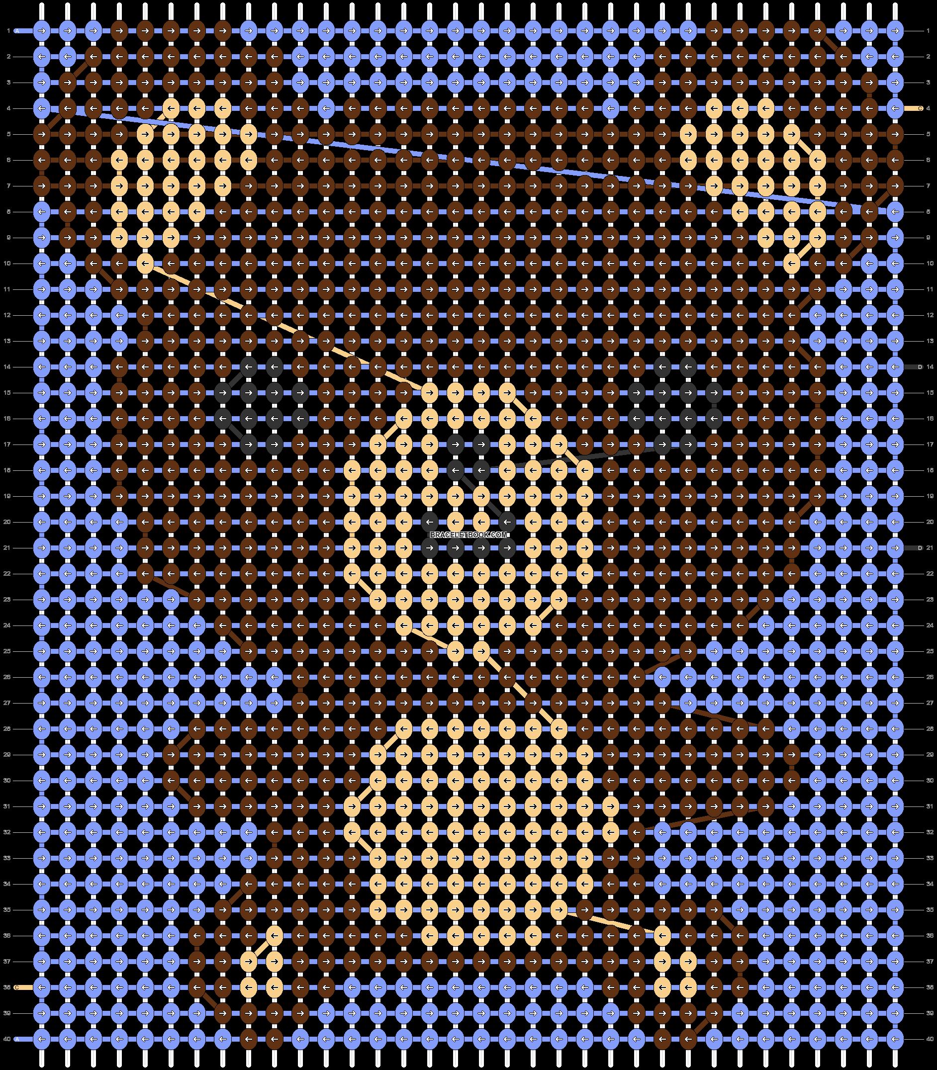 Alpha pattern #3836 pattern