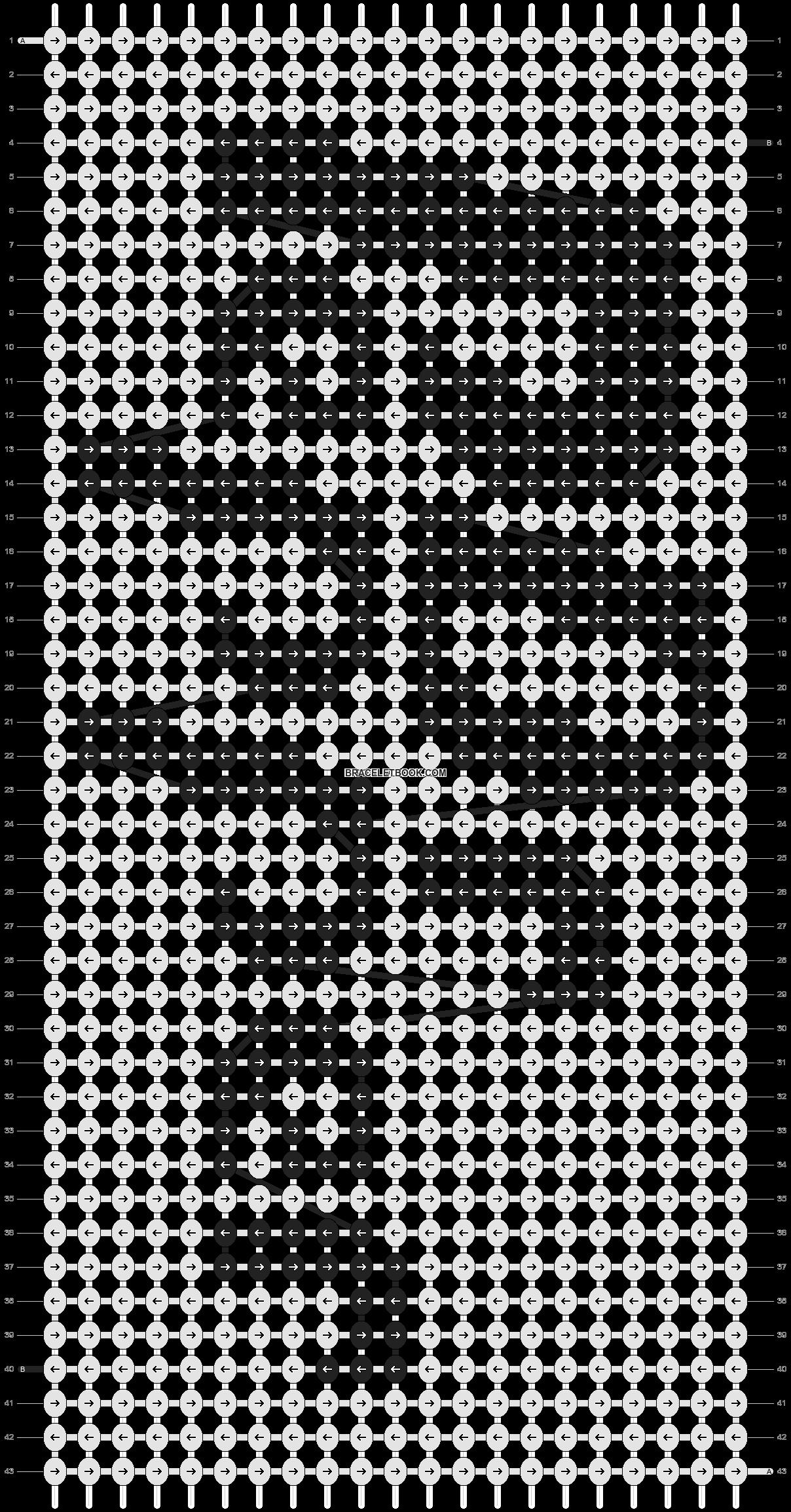 Alpha pattern #3838 pattern