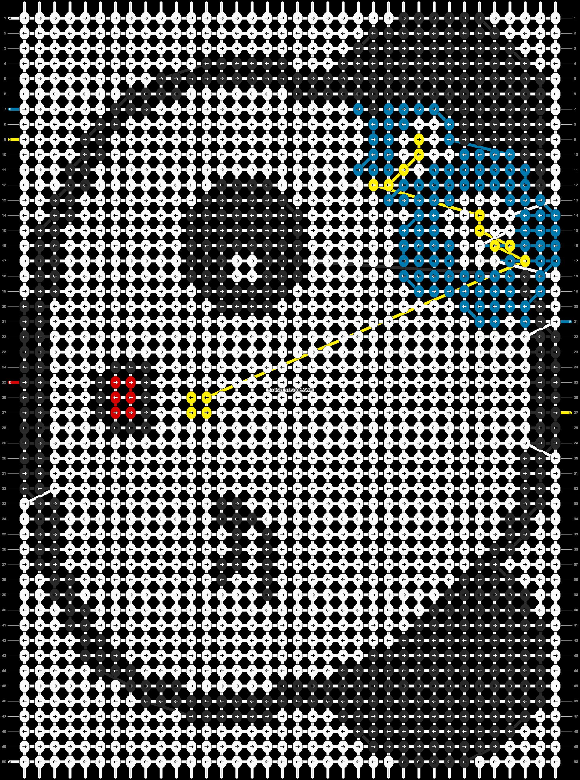 Alpha pattern #3851 pattern