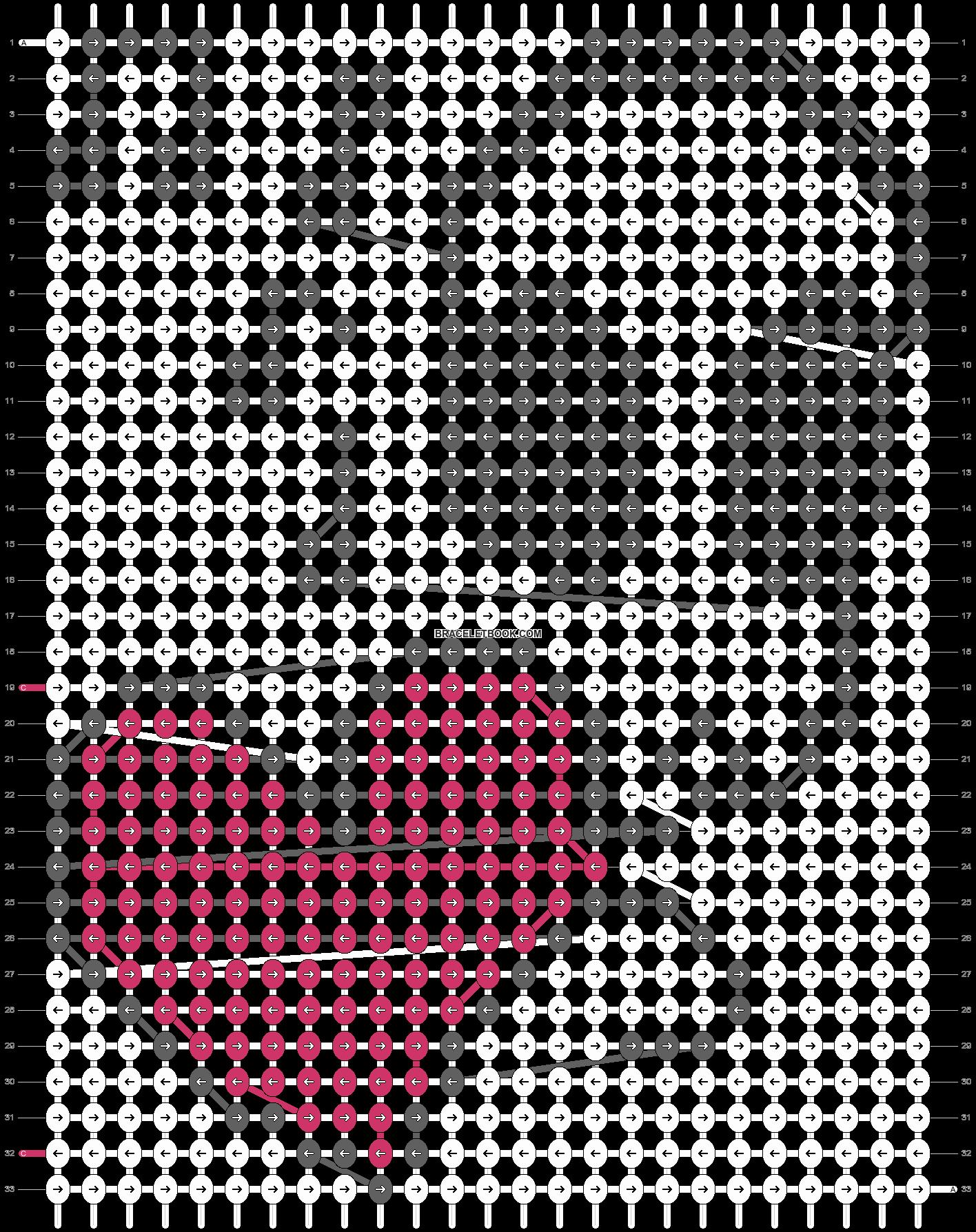 Alpha pattern #3864 pattern