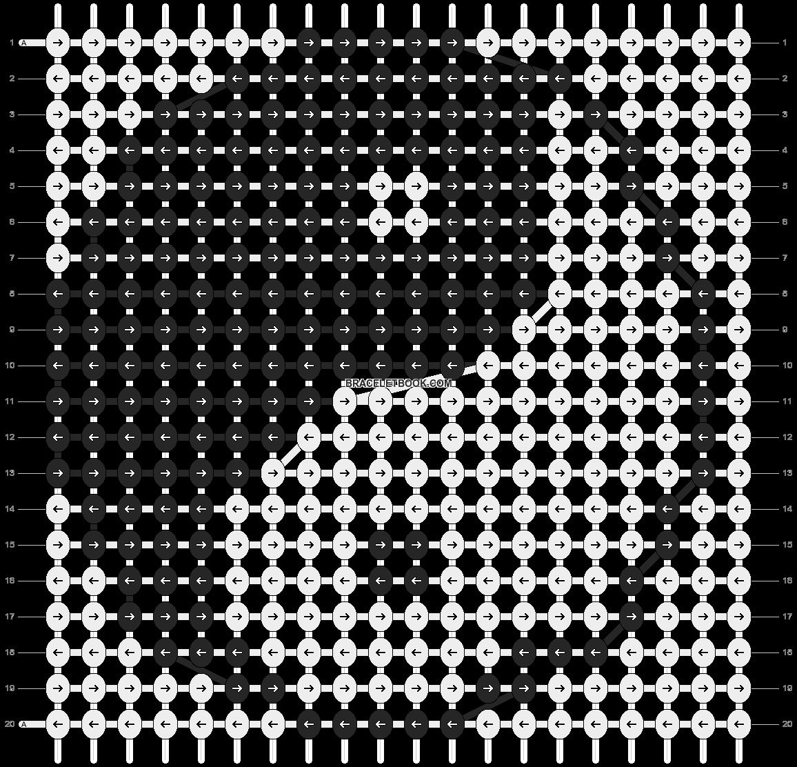 Alpha pattern #3869 pattern