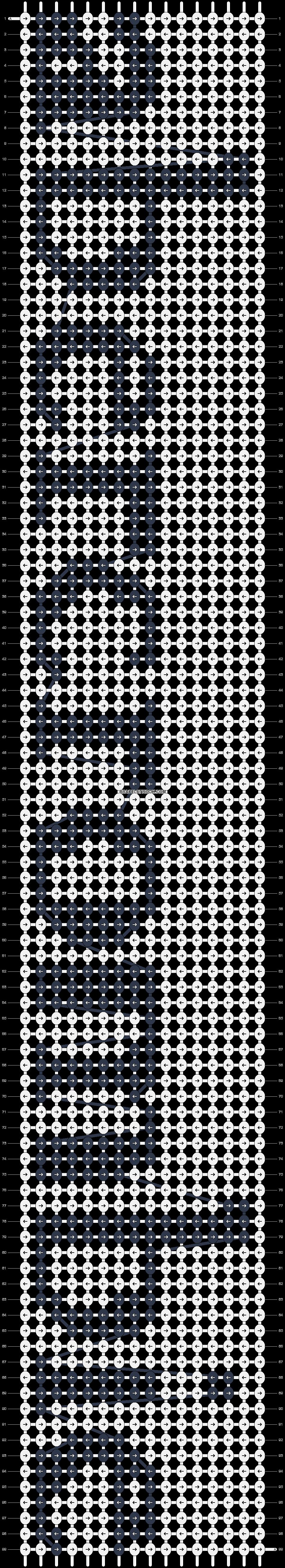 Alpha pattern #3900 pattern
